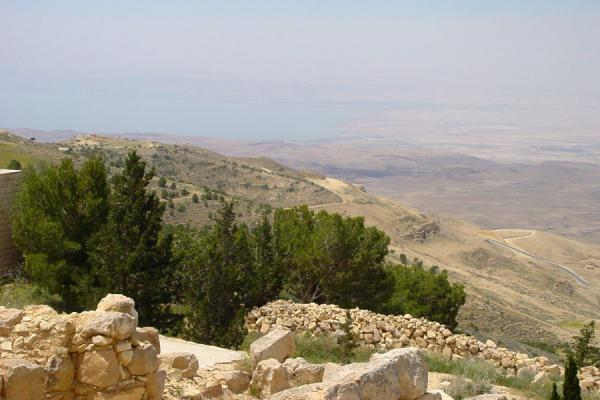 View from Mount Nebo, with the Dead Sea below | Mount Nebo | Jordan