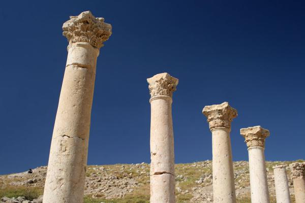 Foto van Some of the pillars of the Civic Complex ChurchPella - Jordanië