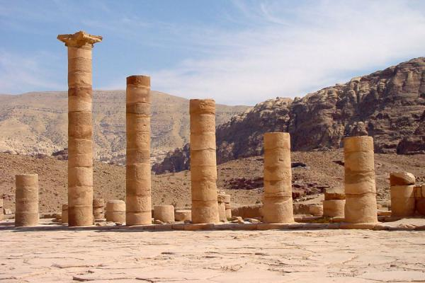 Picture of Pillars in Petra: remains of the ancient city