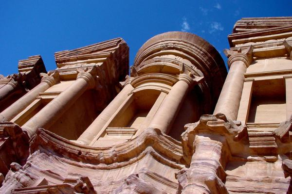 Picture of Monastery or Al Deir seen from below, one of the main attractions of Petra - Jordan - Asia
