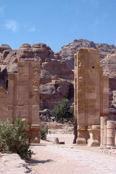 The City Gate of ancient Petra | Petra | Jordan