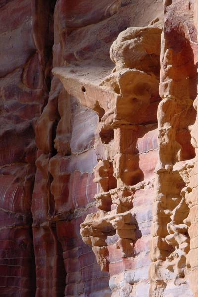 Eroded by time and weather, facade at Petra | Petra | Jordan