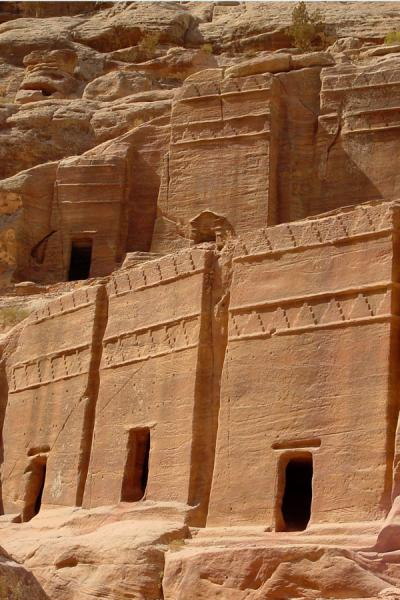 Some of the houses in the Street of Facades, Petra | Petra | Jordan