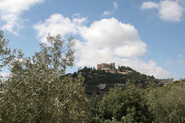 Photo de Qalat ar-Rabad seen from a distanceAjloun - Jordanie