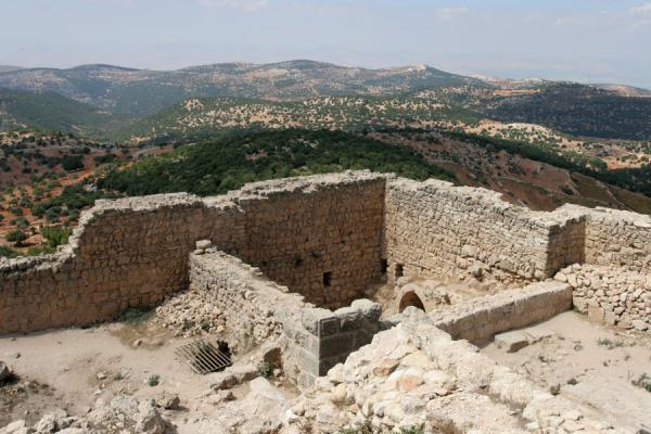Picture of The green landscape surrounding Qalat ar-Rabad seen from the topAjloun - Jordan