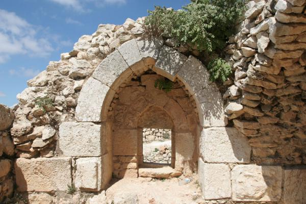 One of the remaining arches of Qalat ar-Rabad | Qalat ar-Rabad | Jordanië