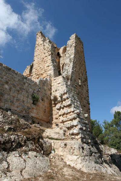 Picture of One of the original watchtowers seen from belowAjloun - Jordan
