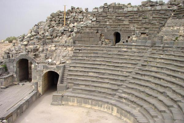 Picture of Umm Qais (Jordan): Ancient West theatre, Umm Qais