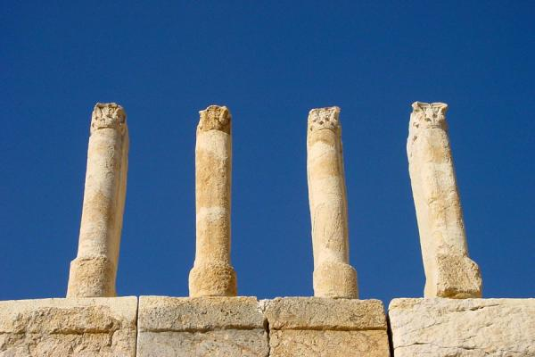 Some of the remaining pillars of Qasr al-Abd | Wadi Seer | Jordan