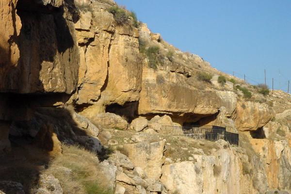Some of the caves at Araq al Amir from the outside | Wadi Seer | Jordan
