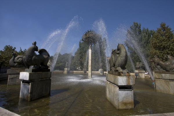 Picture of Zodiac Fountain (Kazakhstan): Fountain surrounded by statues of the twelve zodiac signs