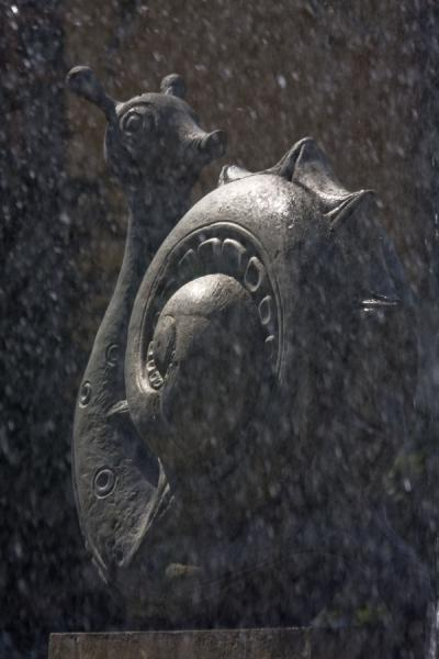 Picture of Zodiac Fountain (Kazakhstan): Snail behind the curtain of water