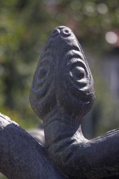 Picture of Head of the snake in the Zodiac fountain