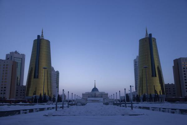 Looking east towards Ak Orda, the Presidential working palace | Astana modern architecture | Kazakhstan