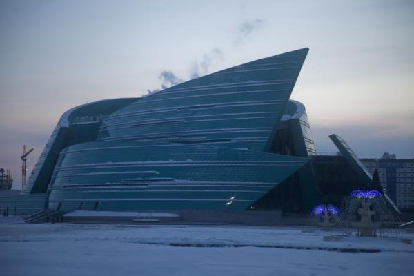 The Concert Hall on the eastern side of Nurzhol Boulevard | Astana modern architecture | Kazakhstan