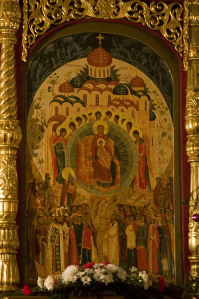 Icon in the altar of the Cathedral of the Holy Ascension | Holy Ascension Cathedral | Kazakhstan