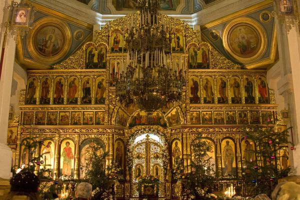 Altar of the Cathedral of the Holy Ascension | Holy Ascension Cathedral | Kazakhstan