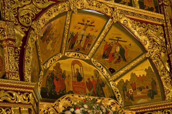 Foto di Detail of the altar of Zenkov Cathedral, the Ascension CathedralCattedrale della Santa Ascensione - Kazachistan