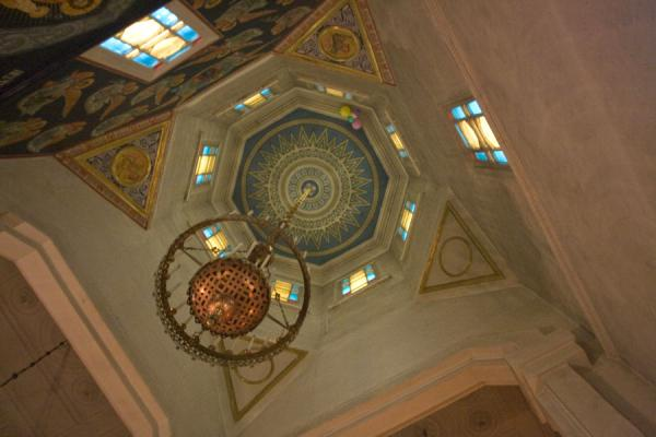 Ceiling of the second tallest wooden structure of the world | Holy Ascension Cathedral | Kazakhstan