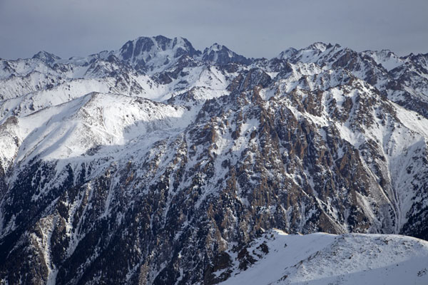 Picture of Talgar Peak (4.979m) seen from the mountain ridge leading to FurmanovkaFurmanovka - Kazakhstan