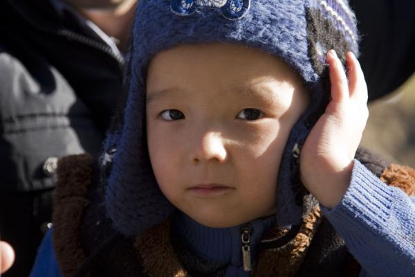 Picture of Kim-Asar hiking (Kazakhstan): Sweet Kazakh boy in the afternoon in Kim-Asar valley