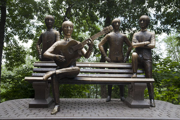 Picture of The Beatles Monument on top of Kök TöbeAlmaty - Kazakhstan
