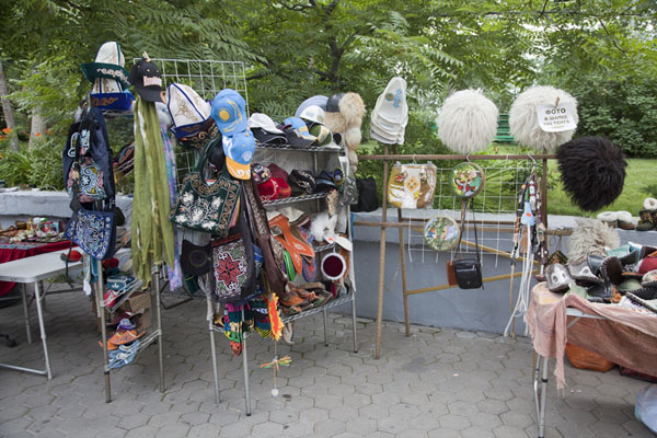 Picture of Street stall with typical Kazakh stuff on top of Kök TöbeAlmaty - Kazakhstan