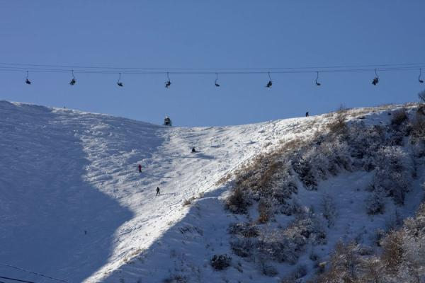 Skilift and slope at Tabagan | Tabagan Skiing | Kazakhstan