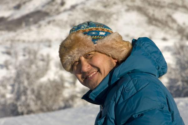Picture of Kazakhstan (Typical Kazakh hat keeping this skier warm)