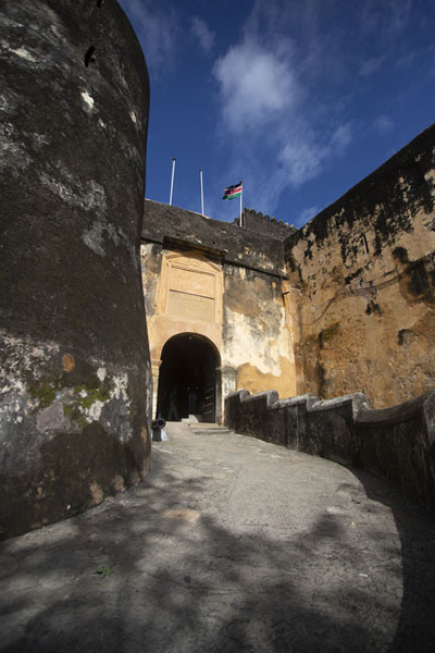 Picture of Fort Jesus (Kenya): Entrance of Fort Jesus seen from below