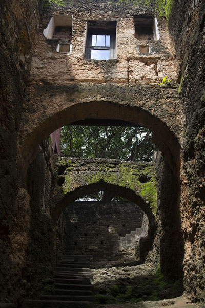 The Passage of the Arches seen from below | Fort Jesus | Kenya
