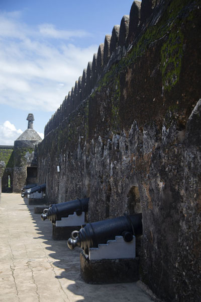 Foto van Eastern wall of Fort Jesus with the gun platformFort Jesus - Kenia
