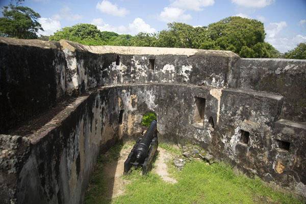 Picture of Fort Jesus (Kenya): The San Matias bastion with one cannon