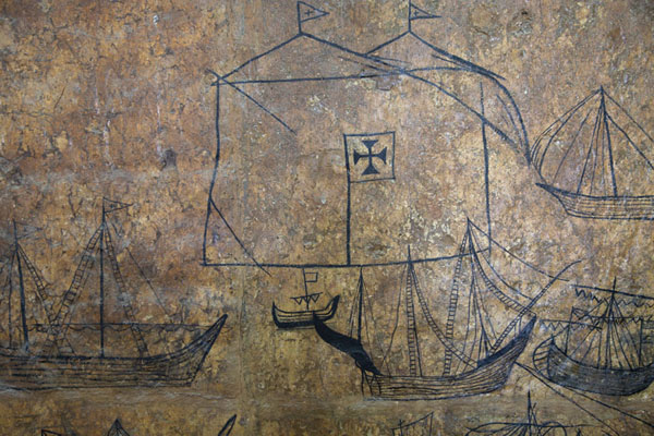 Detail of the Portuguese wall paintings | Fort Jesus | Kenya