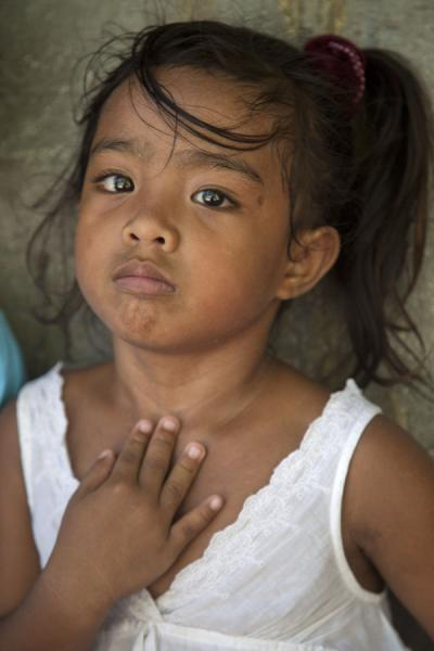 School girl with a born camera attitude | Gente I-Kiribati | Kiribati