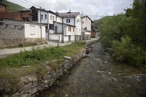 Picture of Brod with the river BrodBrod - Kosovo