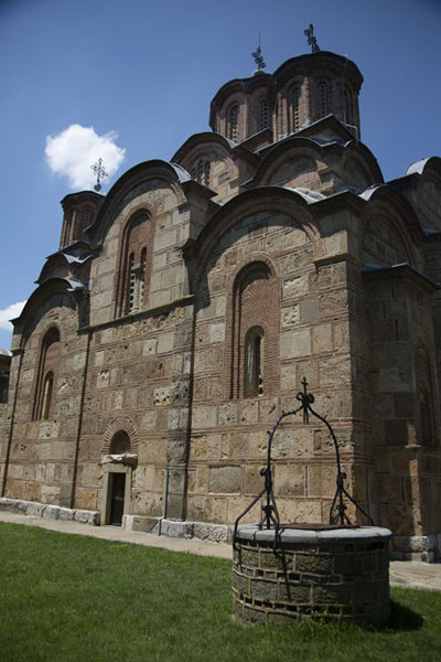 Picture of Side view of the church in the monastery of GračanicaGračanica - Kosovo
