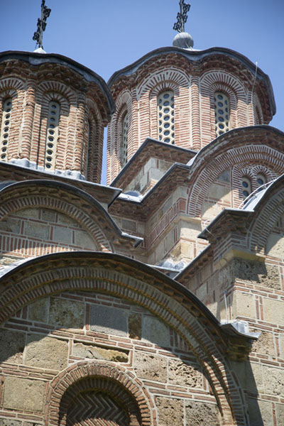Picture of Looking up the domes of the main churchGračanica - Kosovo