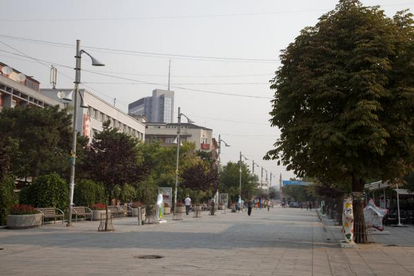 Picture of The remodeled part of Nëna Tereza boulevard reveals the future of the Kosovarian capital