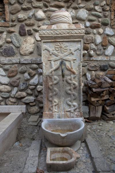 Picture of Prizren (Kosovo): Decorated fountain in a teqe in Prizren