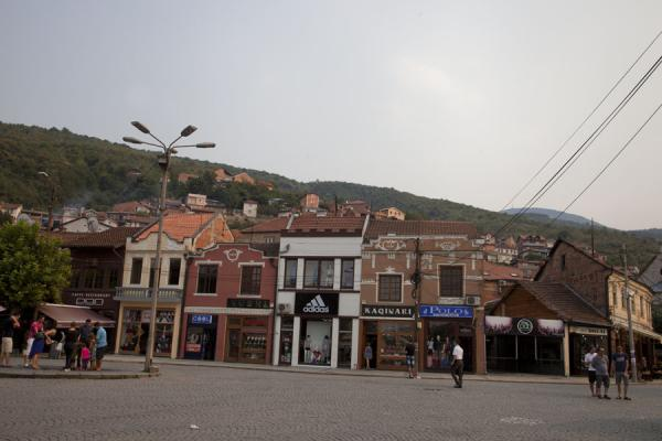 Picture of Prizren (Kosovo): Square with fountain and shops in the centre of Prizren