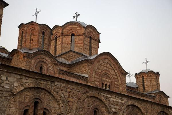 Looking up the Orthodox church of the Virgin of Leviša | Prizren | Kosovo