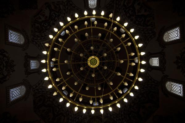 Looking up the ceiling of the Sinan Pasha mosque | Prizren | Kosovo