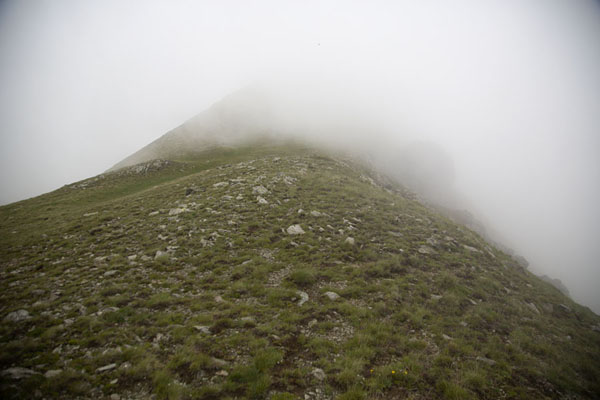 Picture of Cloud climbing the highest peak of KosovoRudoka e Madhe - Kosovo