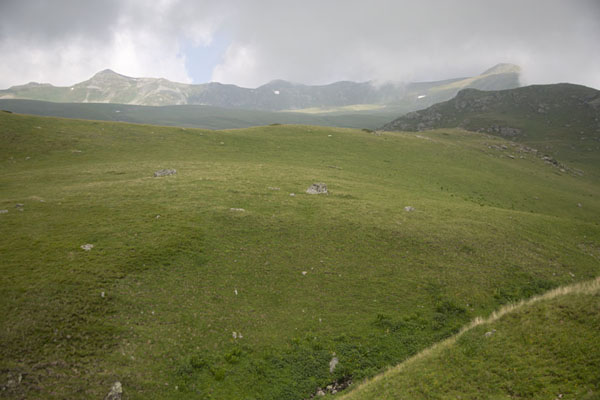 Panoramic view of the higher part of the Šar mountains -