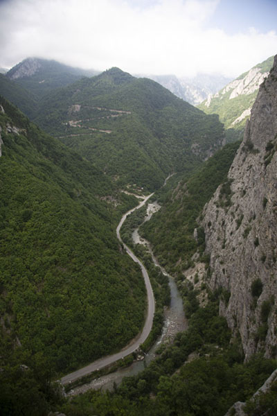 Photo de View from higher up on the via ferrata: looking west into Rugova canyonRugova - Kosovo