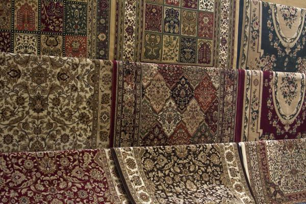 Picture of Some of the many carpets for sale at the Friday SuqKuwait - Kuwait