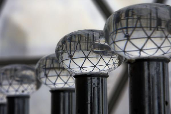 Picture of Close-up of knobs near the staircase inside the globe of the tallest towerKuwait - Kuwait