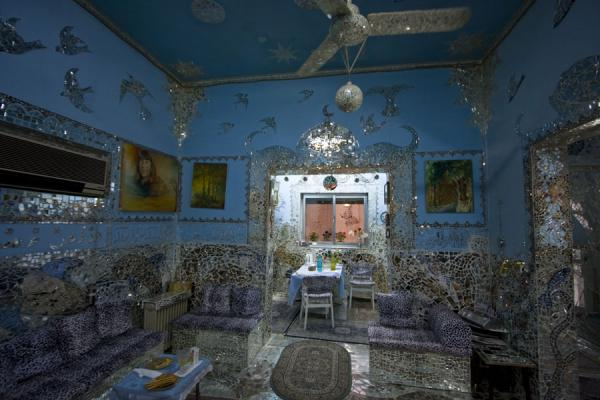 Picture of Living room with mirrors everywhere in the House of MirrorsKuwait - Kuwait