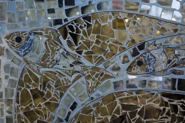 Fish made of mirrors in the House of Mirrors | Huis van Spiegels | Koeweit